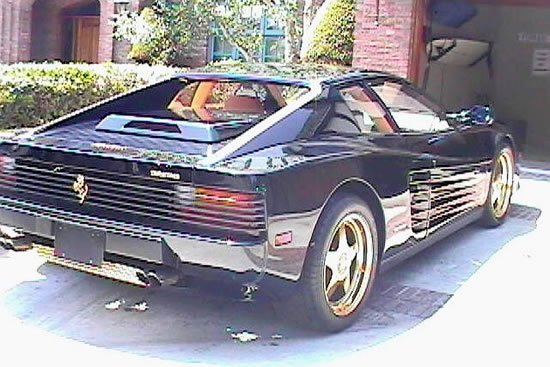 a customized gold trimmed 1987 ferrari testarossa for sale. Black Bedroom Furniture Sets. Home Design Ideas