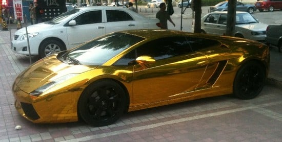 Marvelous Gold Lamborghini Gallardo Spotted In Beijing