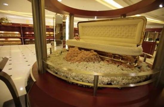Gold-plated-caskets