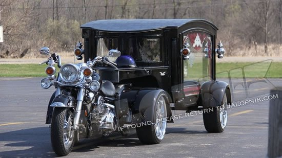 Harley-Davison-turned-hearse makes for a fantastic last journey : Luxurylaunches