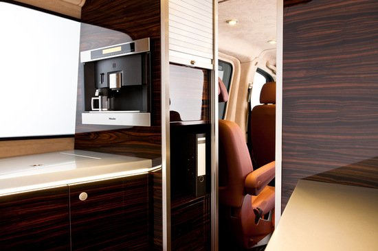 hartmann mercedes sprinter gets an interior inspired by air force one