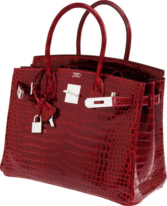 handbags that look like birkin - 2008 Hermes dark brown crocodile Birkin bag sold for $59,000 at ...