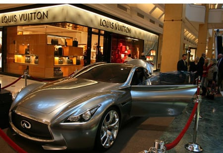 Infiniti Essence concept car worth 24million at Detroits Louis