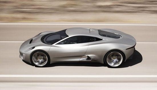 jaguar c x75 concept supercar unveiled to commemorate its 75th anniversary. Black Bedroom Furniture Sets. Home Design Ideas