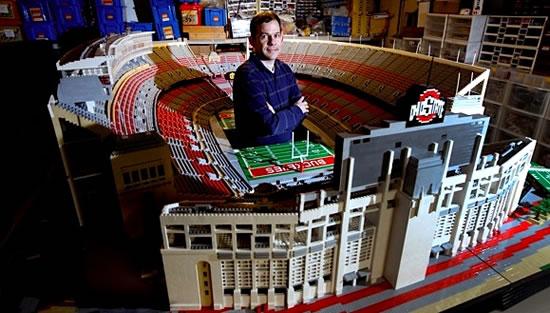 Ohio stadium created with over 1 million LEGO blocks -