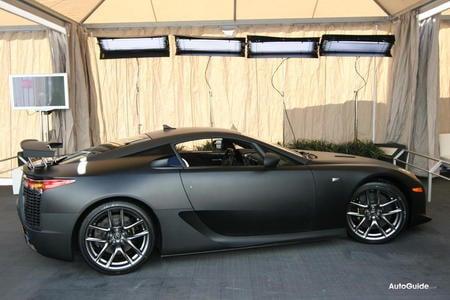 the $375,000 matte black finish lexus lfa super car makes us debut -