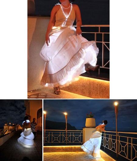 Lighted-wedding-dress