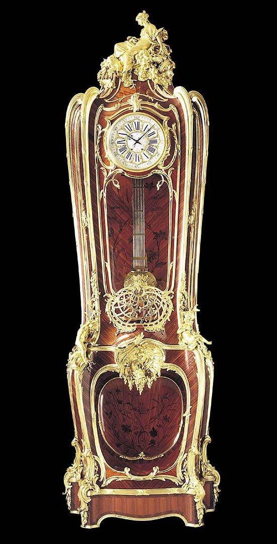 Louis-XV-Tulipwood-Marquetry-clock