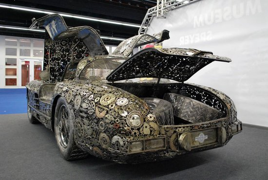Mercedes Benz 300sl Gullwing Upcycled From Scrap Is Far