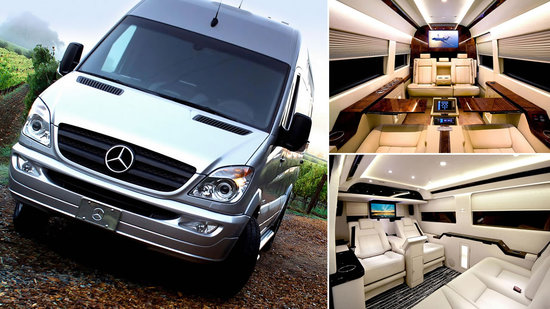 Mercedes benz sprinter jetvan is the air force one of the for Mercedes benz sprinter jetvan