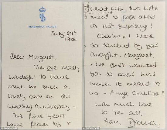 Princess Diana's unseen letters to be auctioned : Luxurylaunches