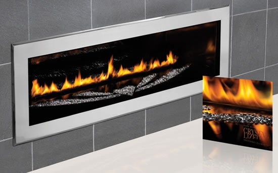 Swarovski studded Napoleon LHD50 fireplace heats up with