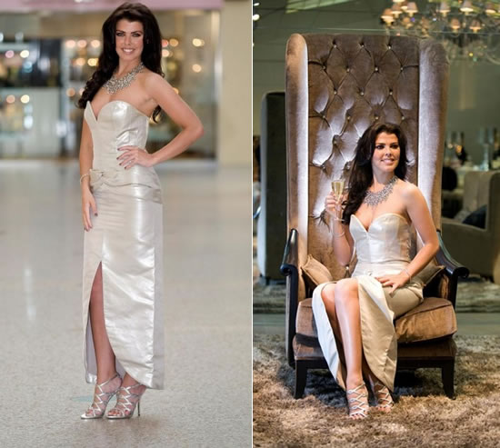 A stunning $162k Platinum Wedding Dress is the showstopper -
