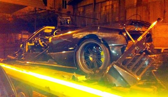 World S Most Expensive Car Crash A Pagani Zonda F