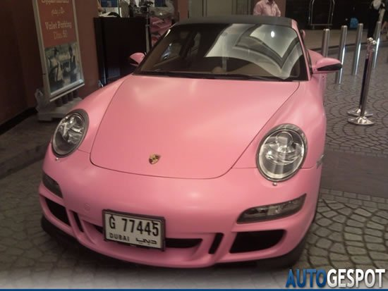 Gem Studded Pink Porsche 997 Carrera Spotted In Uae