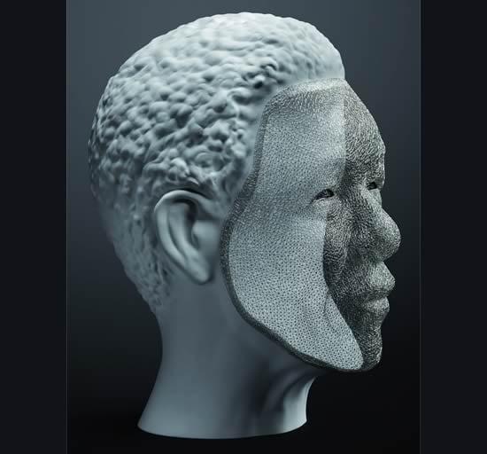 Platinum-wire-Mandela-sculpture