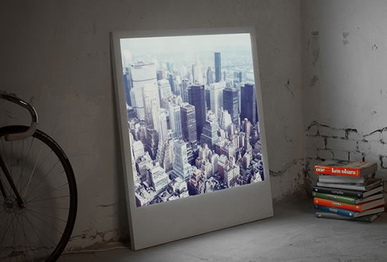Polaboy LED Frames light up your Polaroid pictures -