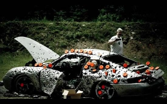 2017 Ferrari 458 >> Porsche 911 gets shot 10,000 times for your better future