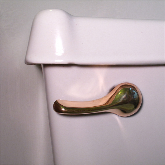 A Solid Gold Toilet Flush Handle Will Drain Away Your Savings