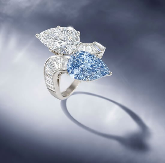 Bulgari's Rare Blue Diamond Ring To Be Auctioned For The