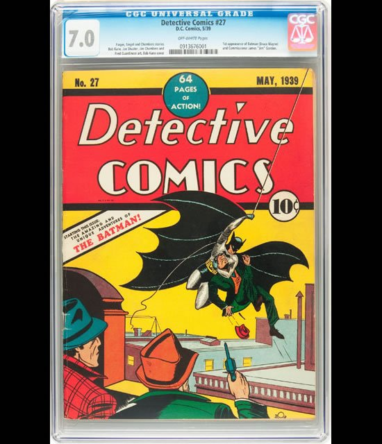 A rare 1939 Batman Comic was picked up for half a million dollars : Luxurylaunches