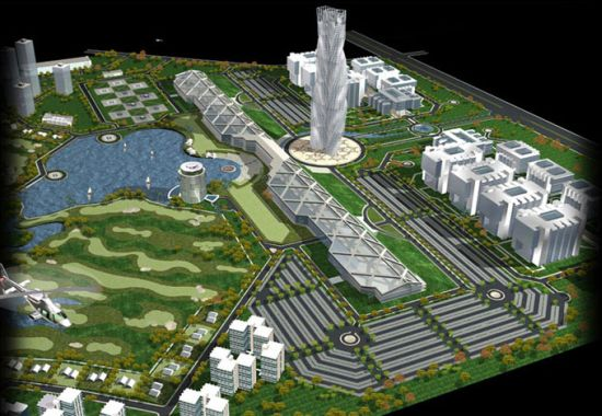 Circuit board shaped city to come up near india 39 s silicon for Design in the city