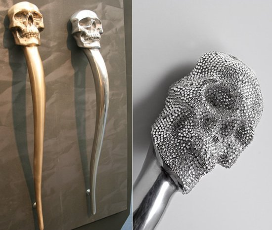 Skull Door Handles By Philip Watts Design