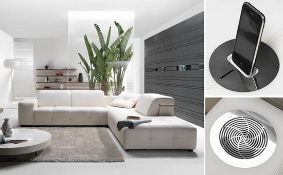 Großartig Surround By Natuzzi: A Sofa Integrated With A Music System