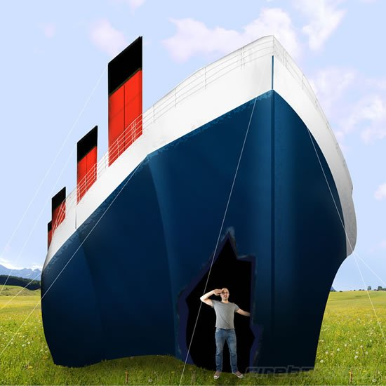 A number of renditions of the luxury liner the majestic Titanic are now making it to the headlines courtesy the 100th anniversary of the launch of this ... & Tentanic is a tent which is 1:2 scale of the Titanic -