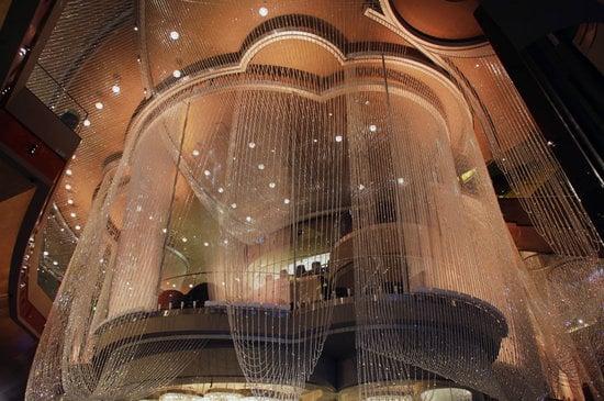 The Chandelier Bar is enveloped inside 2 million crystals
