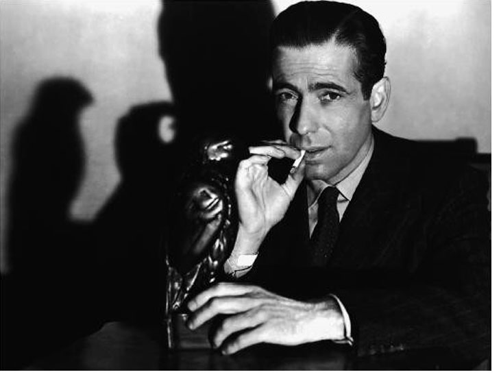 The-Maltese-Falcon-1941-Humphrey-Bogart-with-Bird