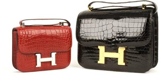 2008 Hermes dark brown crocodile Birkin bag sold for $59,000 at ...