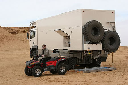 UNICAT MAN 6x6 truck offers extreme luxuries -