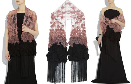 Valentino_Pink_and_Black_lace_scarf