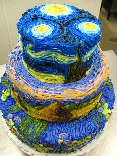 Van-gogh-starry-cake