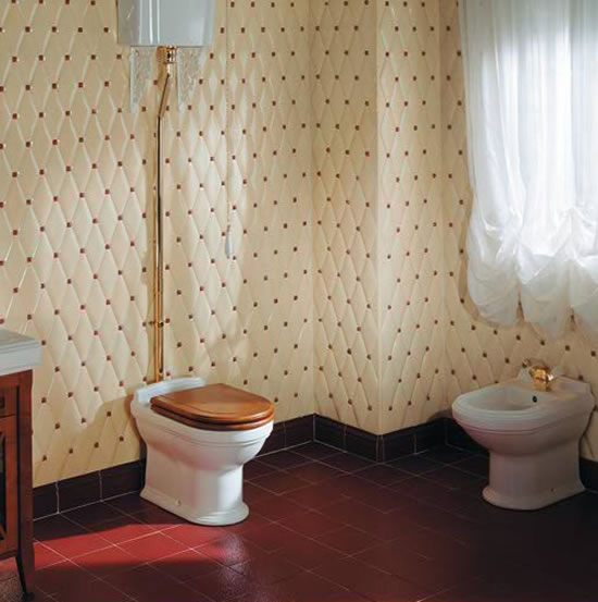 Capitonne collection bathroom tiles sport diamond design with gold