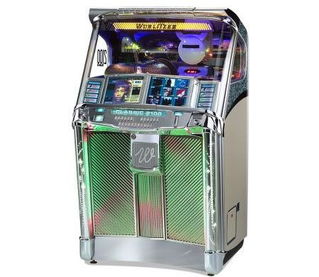 the wurlitzer cd jukebox is the most modern retro device. Black Bedroom Furniture Sets. Home Design Ideas