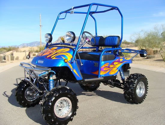 yamaha golf carts. golf lovers who also have a split side of enjoying the fast and furious can smile. this yamaha-powered cart is up for grabs. yamaha carts