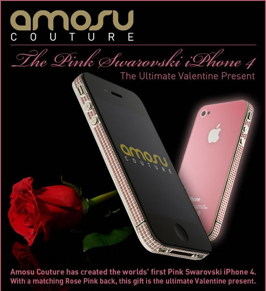 Amosu celebrates Valentine's Day with World's first pink
