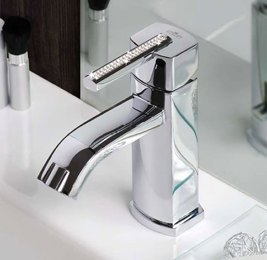 Swarovski Azeta crystal faucets for you bathroom by Webert -