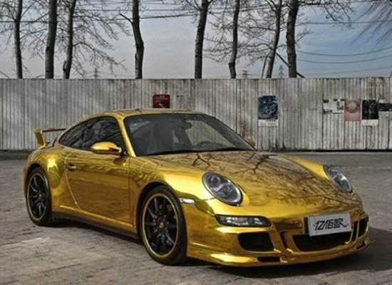 Porsche 911 Carrera 4s Gets A Gold Wrap In China