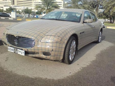 Burberry Edition Maserati Quattroporte Spotted In Saudi