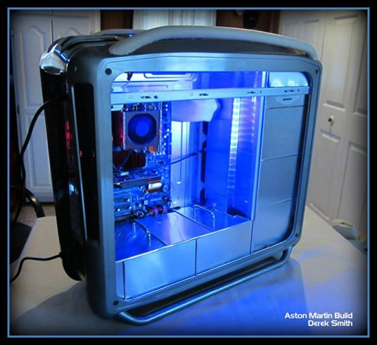 Aston Martin Themed PC Case Is Handcrafted Out Of Spare