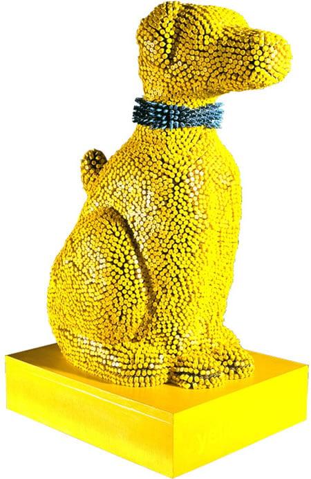 crayon_dog_sculpture