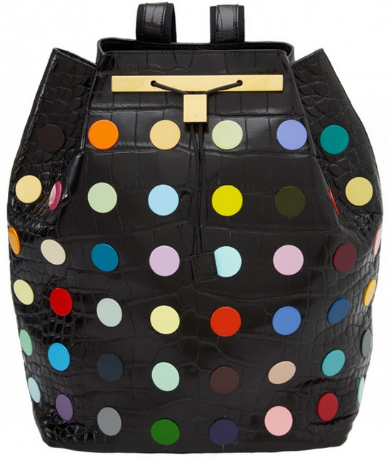 059d5062a352 Olsen twins team up with Damien Hirst to unveil world s most expensive  backpack for  55
