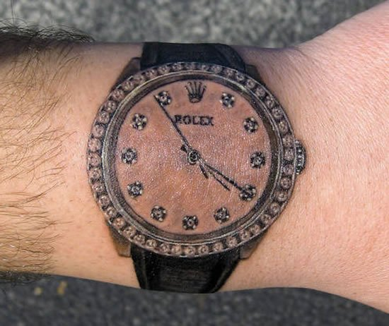 diamond-dialed-Rolex-tattoo-1