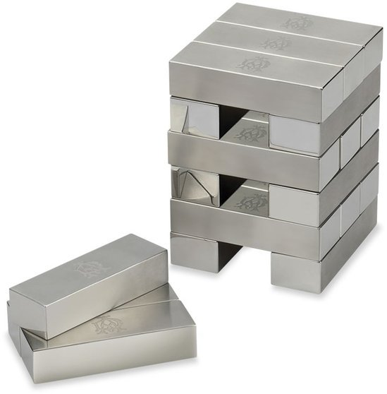 Dunhill S Pure Stainless Steel Topple Brick Set To Bring