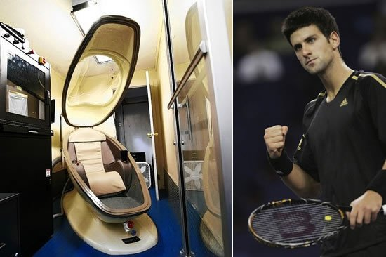 Novak Djokovic Steps In The 75 000 Egg Shaped Pod To