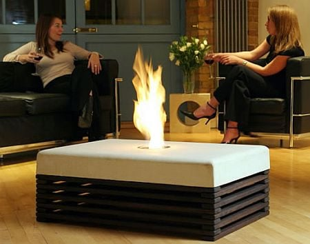 Epsilon - the indoor fire-table with dancing flames - Luxurylaunches