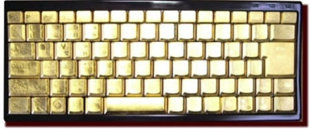 Golden Keyboard Typing Golden Words